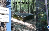 Zimní sestup z Vysoké Roudné kolem Oltářního kamene do Chabičova 20.2.2016