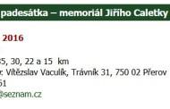 Přerovská padesátka - memoriál Jiřího Caletky - 12.3.2016