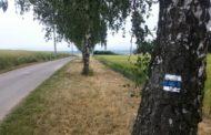 Údržba značení modré trasy z Choliny kolem Svaté vody